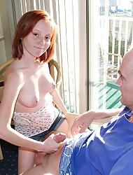 Alyssa Hart stroking hard to milk monster cock