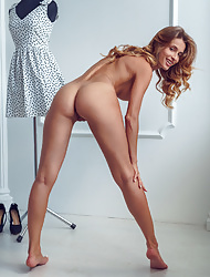 Blonde babe Cara Mell modeling her outstandingly sexy body