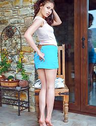 Blue-eyed beauty Alex Lynn showing her sweet body