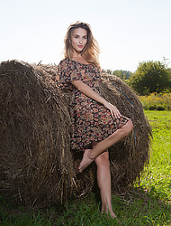 Cara Mell aka Rena revealing her sexy body naked on the farm