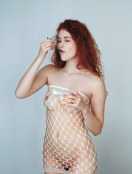 Heidi Romanova in see through dress strips to show her awesome curves