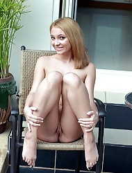 Horny cutie girl caressing her smoking hot body