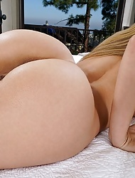 Incredible Moka Mora with round ass toying her tight pussy