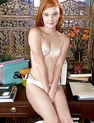 Naughty ginger slutty schoolgirl