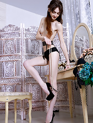 Perfect skinny cutie loves to show her amazing body