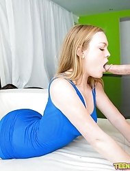 Round Ass Blond Gets a Hot Fuck and Facial