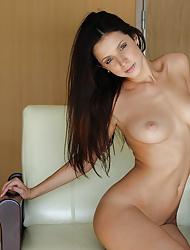 Sexy brunette Gillian B naked