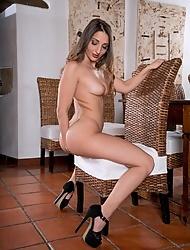 Spanish pornstar Jimena Lago has a glass toy for solo