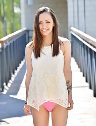 Teen Shaved Brunette Lily