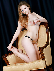 Veronika Mink bares her amazing body on the chair