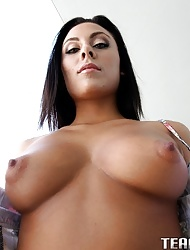 Very stunning latina babe Gianna Nicole getting her tight pussy fucked by a huge cock